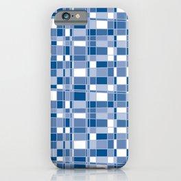 Mod Gingham - Blue iPhone Case