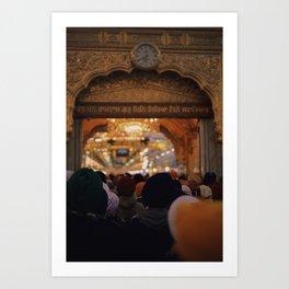 Entrance to Golden Temple Art Print