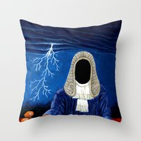 doom Throw Pillows featuring Doom by Lupo Solitario