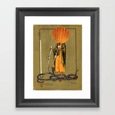 Snake Man Framed Art Print