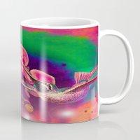 hummingbird Mugs featuring Hummingbird by Joe Ganech