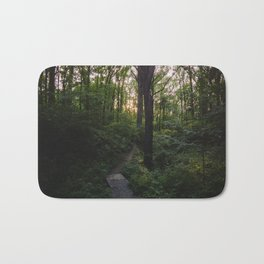 Northern Virginia Forest with trail Bath Mat