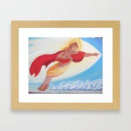 Apollo, Flying Framed Art Print