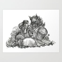 Inktober 2017: Beauty and the Beast Art Print