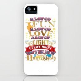 Hanukkah Joy Hanukkah Love Shirt iPhone Case
