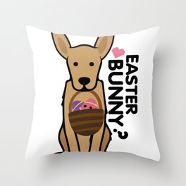 Golden Easter Funny for Boys Girls Love Dog Puppy Throw Pillow