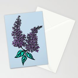 Lilac Blue Stationery Cards