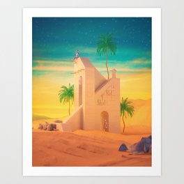 Home for a while Art Print
