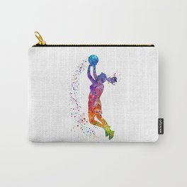 Girl Basketball Player Colorful Watercolor Sports Gift Olympics Game Carry-All Pouch