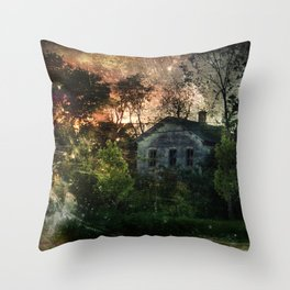 The Ghost House Throw Pillow
