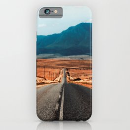 Teal Mountains Highway iPhone Case
