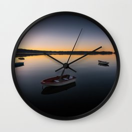 Sunrise over Knysna Lagoon in Western Cape, South Africa Wall Clock