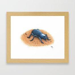 Blue Death Feigning Beetle Framed Art Print