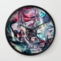 imagine Wall Clocks featuring Imagine  by ART de Luna