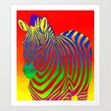 Colorful Psychedelic Rainbow Zebra by psychedeliczen