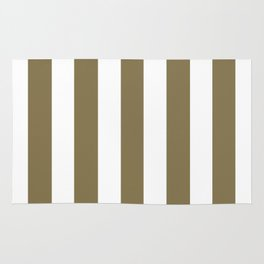 Gold Fusion grey - solid color - white vertical lines pattern Rug