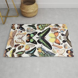 Adolphe Millot - Papillons B - French vintage poster Rug