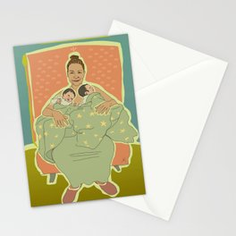 Mother with Twins Stationery Cards