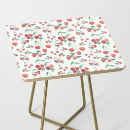 Watercolor Strawberries Side Table