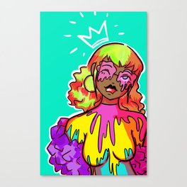 dripping in colour Canvas Print