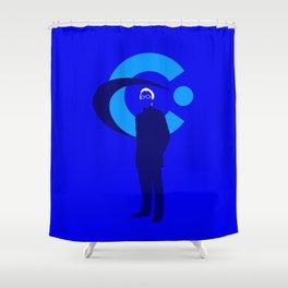 Elliot Carver Shower Curtain