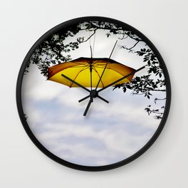 Brolly In The Park 31 Wall Clock