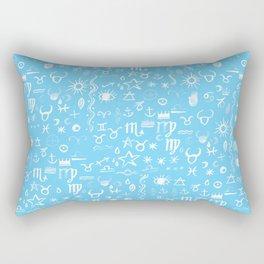 Celestial Symbols Blue Sky Rectangular Pillow