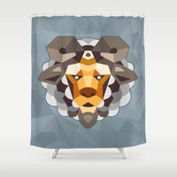 sheep Shower Curtains featuring SHEEP by Sky-blitz