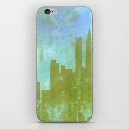 The Hawk and The Fox, town, fox, hawk, blue, white, butterfly iPhone Skin