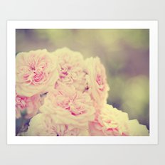 Vintage Rose Bush Art Print