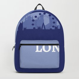 Abstract Blue London Skyline Backpack