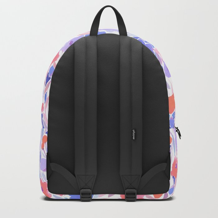 Flower Field Apricot Lilac Backpack