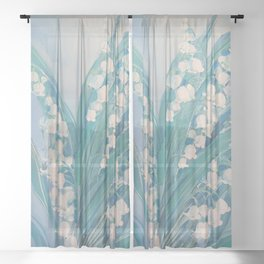 Lily of the valley Sheer Curtain