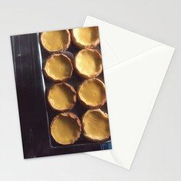 egg tart Stationery Cards