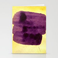 transparent Stationery Cards featuring transparent Yellow by seb mcnulty