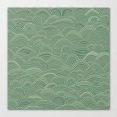just waves aqua Canvas Print