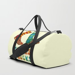 Stocks And Socks with Groovy Lettering Duffle Bag