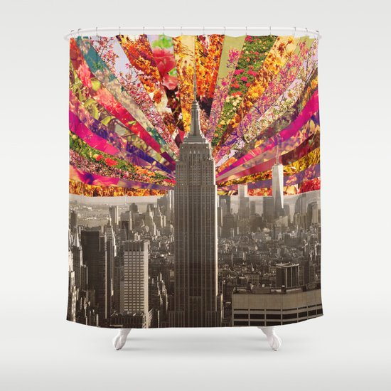 BLOOMING NY Shower Curtain