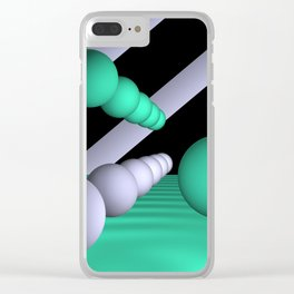 3D-geometry -10- Clear iPhone Case