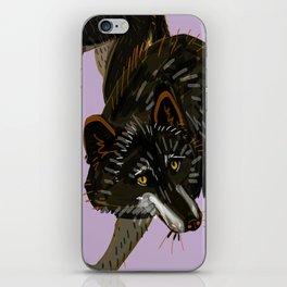 Totem black Buffalo wolf (nubilus) lavender iPhone Skin
