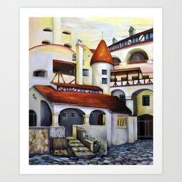 Dracula Castle - the interior courtyard Art Print