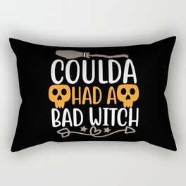 Coulda Had A Bad Witch- Halloween Rectangular Pillow