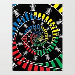 Spinning Disc Golf Baskets Poster