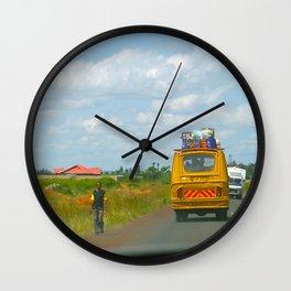 The Road to Kitui / Kenya Wall Clock