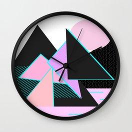 Hello Mountains - Moonlit Adventures Wall Clock