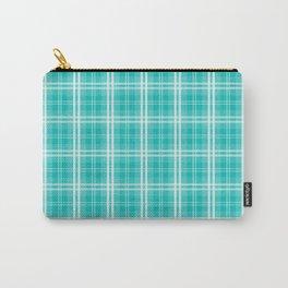 Aqua Blue Tartan Scottish Clan McTiffany Carry-All Pouch