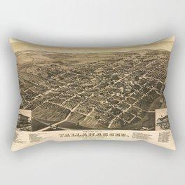 Aerial View of Tallahassee, Florida (1885) Rectangular Pillow