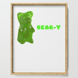 You're Bear y Sweet Funny Gummy Bear Pun Serving Tray