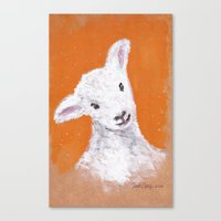sheep Canvas Prints featuring Sheep by KeithKarloff