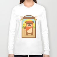 ewok Long Sleeve T-shirts featuring Esok Ewok by Gary  Ralphs Illustrations